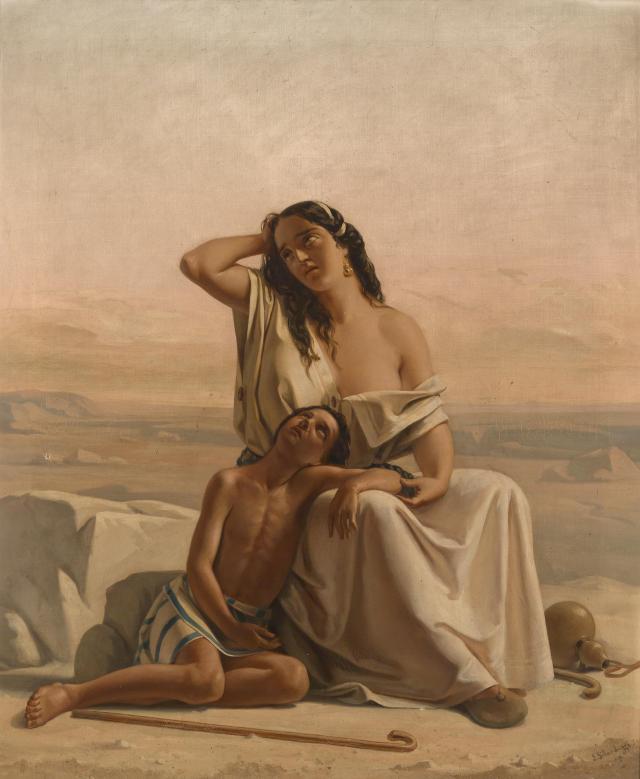 Luigi_Alois_Gillarduzzi_Hagar_und_Ismael_in_der_Wüste_1851
