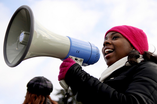 girl-with-megaphone